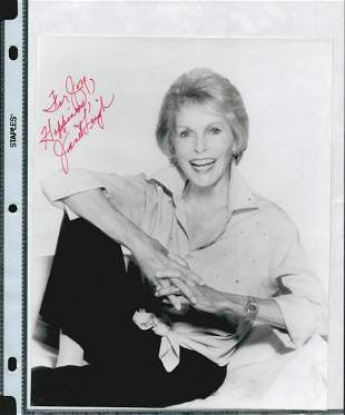 JANET LEIGH SIGNED 8 X 10 PHOTOGRAPH W/COA