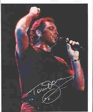 Tom Jones 8 x 10 Signed Photograph w/COA