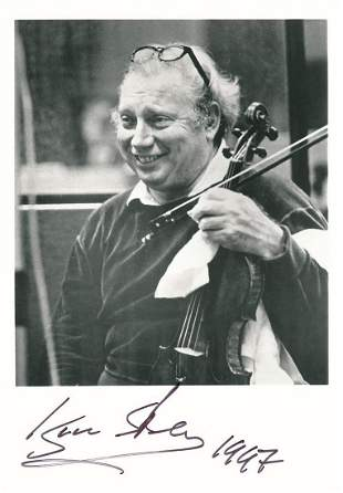 Isaac Stern - 5 x 7 Signed photograph