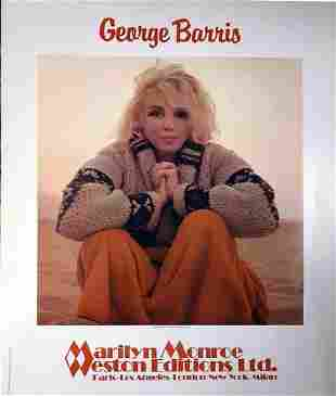 """GEORGE BARRIS """"MARILYN MONROE"""" POSTER. PUBLISHED BY"""