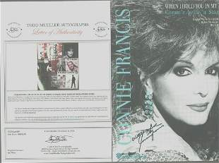 Connie Francis - Signed 9 x 12 Vintage Music Sheet