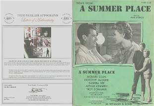 Dorothy McGuire - Signed 9 x 12 Vintage Music Sheet