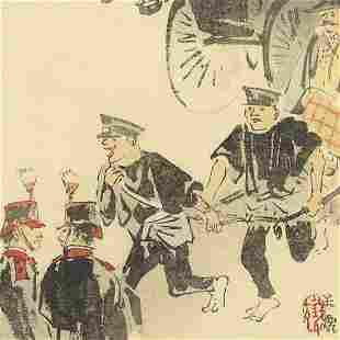 Meiji era artist (not read) - Original Woodblock Print