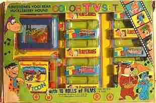 FLINTSTONES, YOGI BEAR, HUCKLEBERRY HOUND COLO TV SET