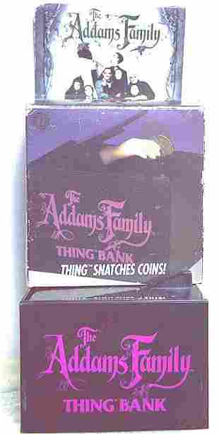 """BATTERY OPERATED THE ADAMS FAMILY """"THING BANK"""""""