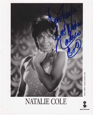 Natalie Cole - Signed 8 X 10 Photograph w/COA