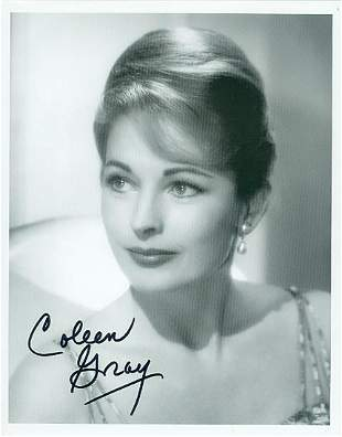 Coleen Gray- 8x10 Signed black and white photograph