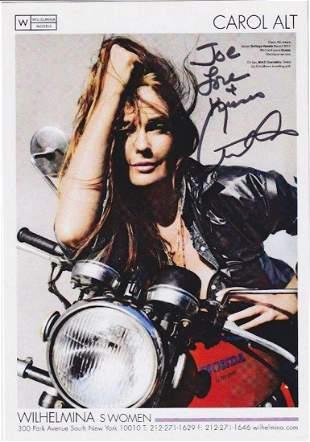Carol Alt - 5.75 x 8.25 Signed Photograph & TLS w/COA