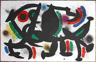 MIRO LITHOGRAPH DOUBLE PAGE FROM BOOK 1 # VIII MINT