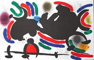 MIRO LITHOGRAPH DOUBLE PAGE FROM BOOK 1 # IV MINT