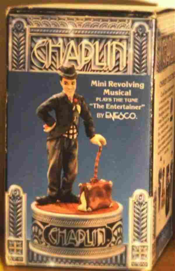 ENESCO CHARLIE CHAPLIN MINI REVOLVING MUSICAL FIGURINE