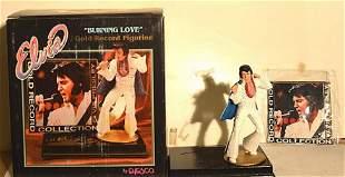 "ELVIS PRESLEY ""BURNING LOVE"" GOLD RECORD FIGURINE"