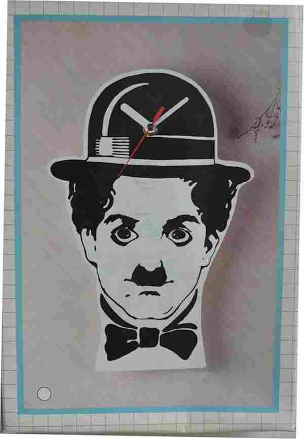 CHARLIE CHAPLIN PENDULUM CLOCK (CR)