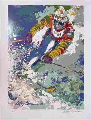 "Leroy Neiman - ""The Skier"" Poster (Original Silkscreen)"