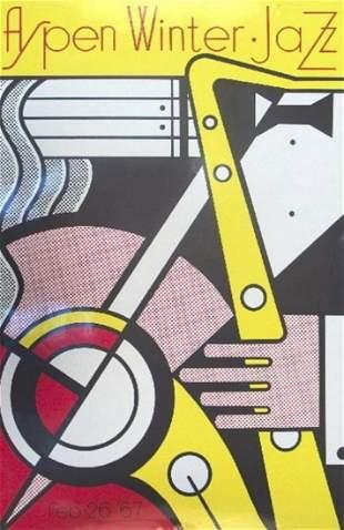 """Roy Lichtenstein Serigraph """"Aspen Jazz"""" (VERY RARE)"""