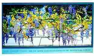 LOUIS COMFORT TIFFANY VISTARIA Vintage Poster 1980'S