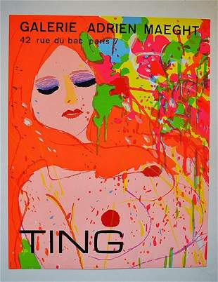 """""""TING"""" LITHOGRAPH PAINTING"""