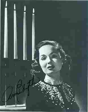Ann Blyth- 6.5x8.5 Signed black and white photograph