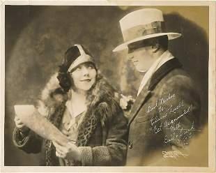 Gail & Frank- 8 x 10 Vintage sepia 1928 photo signed