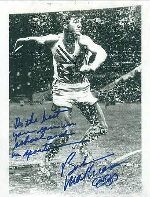 Bob Mathias - 8.5 x 11 Signed Photograph w/COA