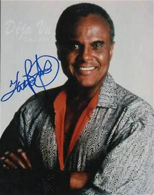 Harry Bellfonte - 8 x 10 signed photograph w/COA