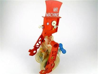 Vintage 1970's Mr. Machine Wind-up Robot Ideal Toy Co.