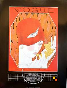 """VOGUE """"RED HAT"""" POSTER"""