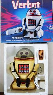 """TOMY """"VERBOT"""" PROGRAMABLE ROBOT"""