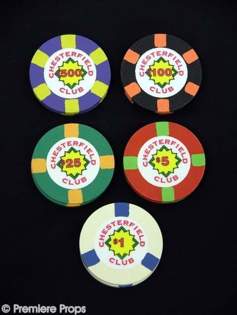 "162: ROUNDERS Set 10 ""Chesterfield Club"" Poker Chips"