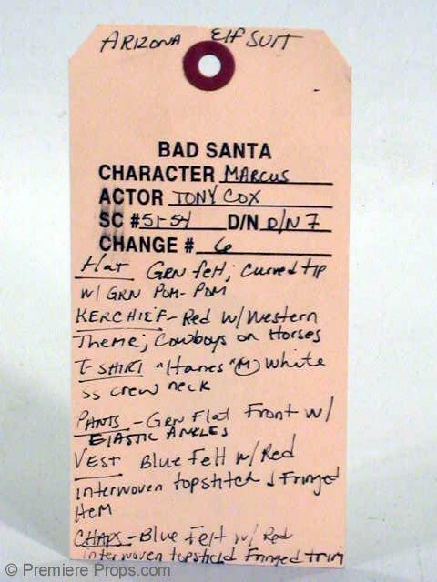 296: BAD SANTA Marcus's (TONY COX) Hero Elf Costume - 5