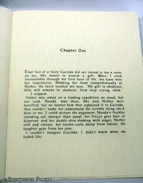 411: ELLA ENCHANTED Hero Benny The Book Prop - 3