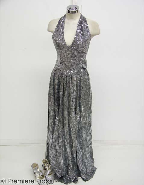 587: STUDIO 54 Julie's (NEVE CAMPBELL) Silver Dress