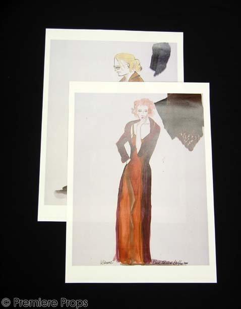594: CHOCOLAT Vianne & Roux Costume Drawings