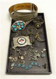 1.4 lbs Southwestern Style Jewelry Mixed Lot