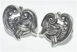 Margot De Taxco Sterling Silver Earrings