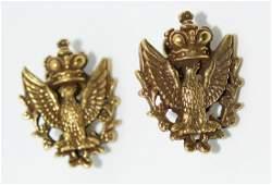 Vtg Coro Eagle Crown Earrings