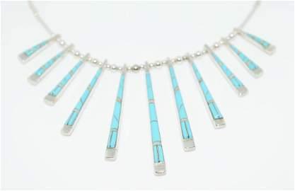 Native American John Duran Turquoise & Opal Double