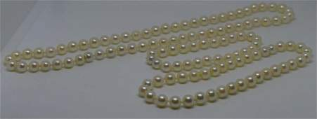 6.5-7mm Pink Luster Cultured Pearl Set w/ Appraisal