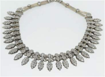 Rajasthani India Tribal Silver Necklace