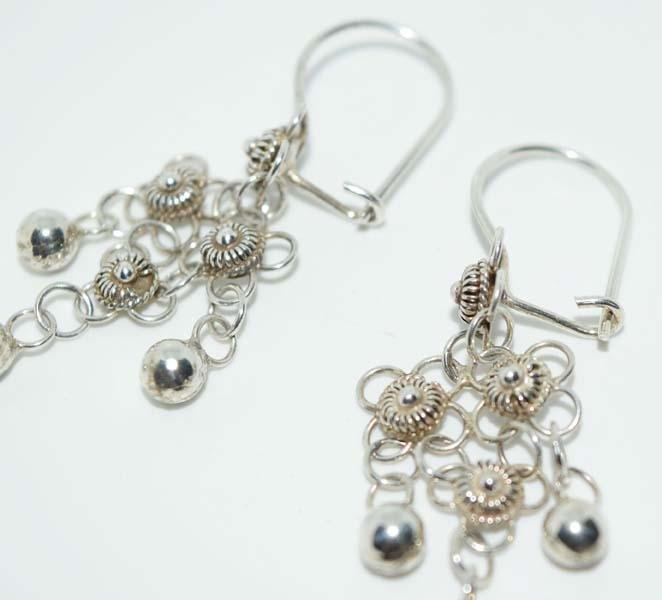 Tested Sterling Tibetan Chandelier Earrings