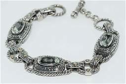 Samuel Behnam Sterling 18K Gold Gemstone Bracelet