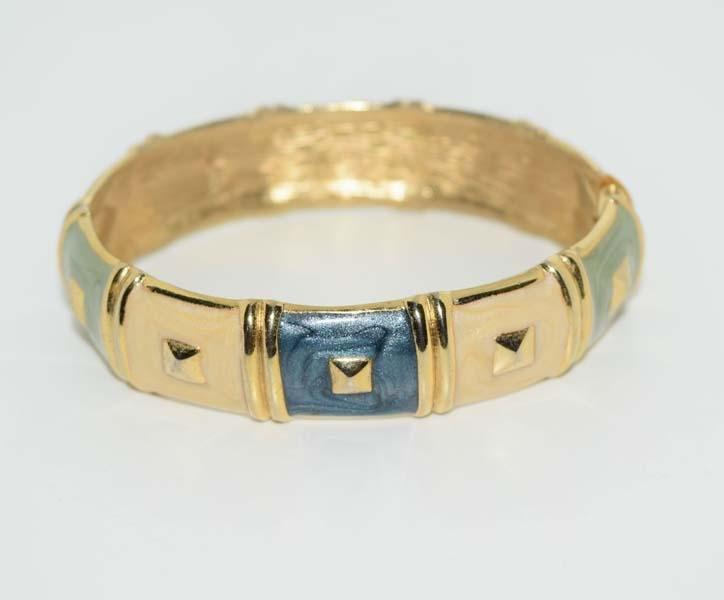 Enamel Fashion Gold Tone Bracelet