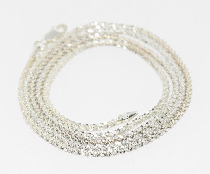 Italy Sterling 24inch Roc Chain Necklace