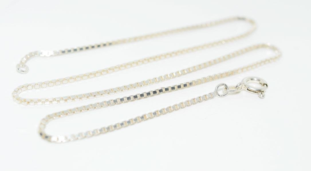 Italy Sterling Silver 1mm 16inch Box Chain