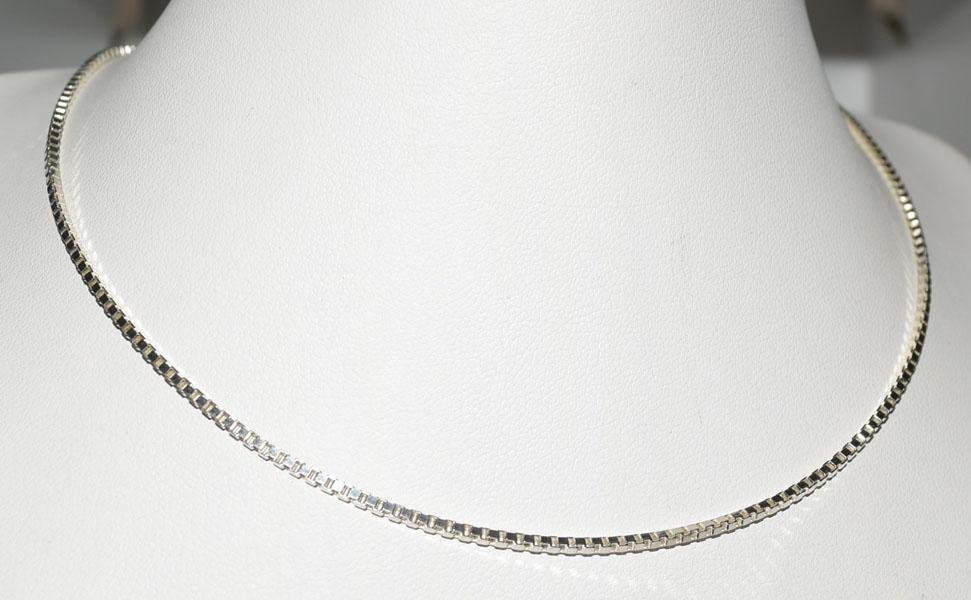 Sterling Silver 20inch Box Chain Necklace