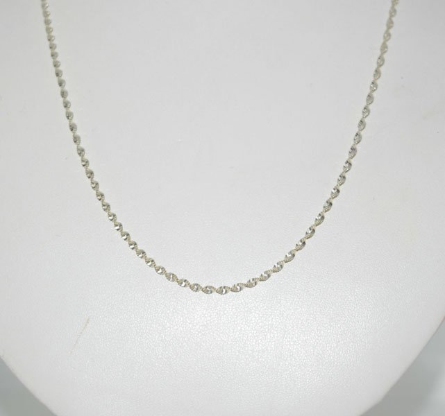 20inch Sterling Silver Twisted Chain Necklace