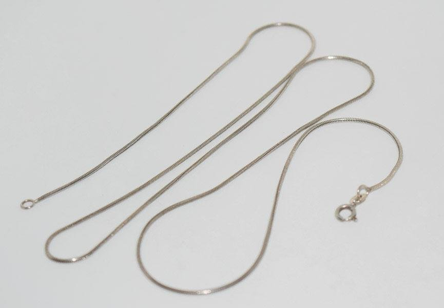 Sterling Silver 1mm 24inch Snake Chain