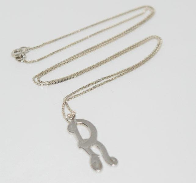 Vintage Anson Sterling Initial R Necklace