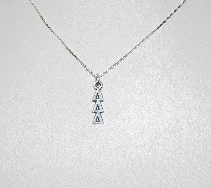 Sterling Triangles Drop Necklace