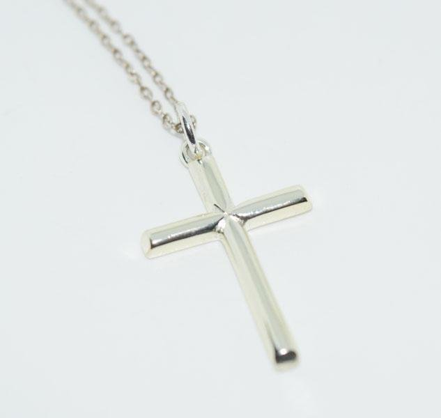 Sterling Silver Simple Cross Necklace